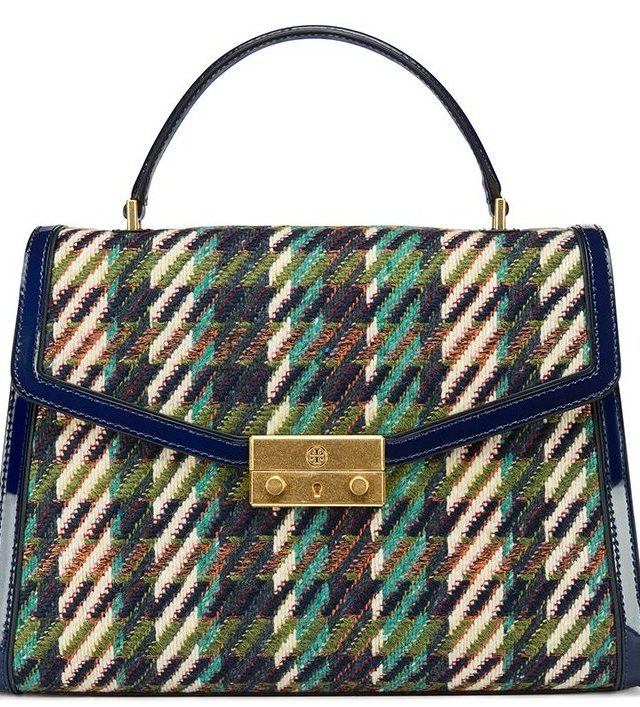 1509975279_ToryBurch__Juliette_Tweed_Top_Handle_Satchel_42071_in_Green_Dogstooth