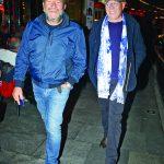 Ünlü iş adamı Mustafa Taviloğlu ve duayen gazeteci Ertuğrul Özkök Kanyon'da Gina Restoran'da akşam yemeği yediler ve bol bol sohbet ettiler