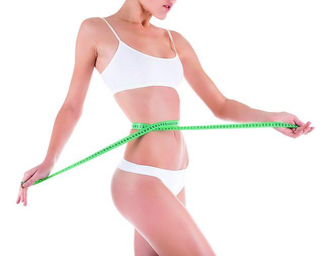 29570456 – woman measure waist, perfect slim body figure