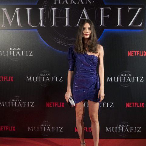 """Yasemin Özilhan, Netflix'in orijinal serisi """"Hakan: Muhafiz"""", Sakıp Sabancı Müzesi, İstanbul'da. 5 Aralık 2018."""