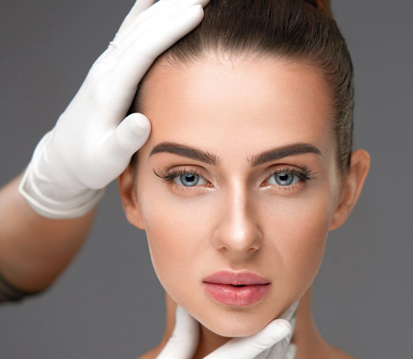 Beauty Face. Beautiful Female Face Before Plastic Surgery