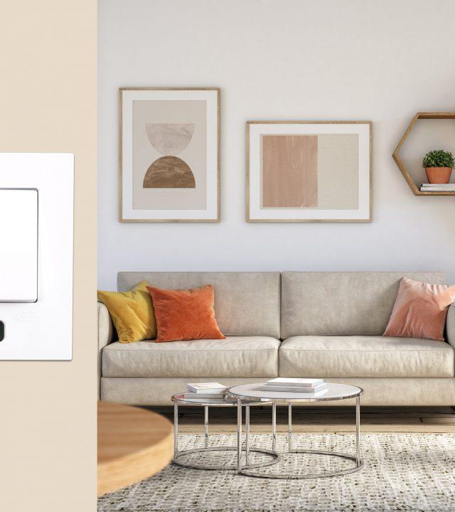 Bohemian living room interior – 3d render